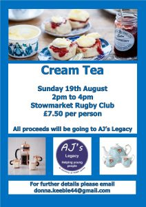 Cream Tea 19th Aug 2018