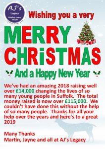 Christmas Card from AJ's Legacy