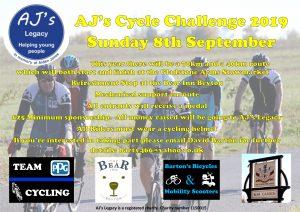 AJ's Cycle Challenge 2019