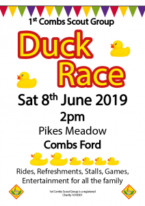 1st Combs Scout Group Duck Race 2019